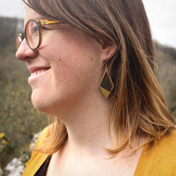 Boucles d'oreilles ébène