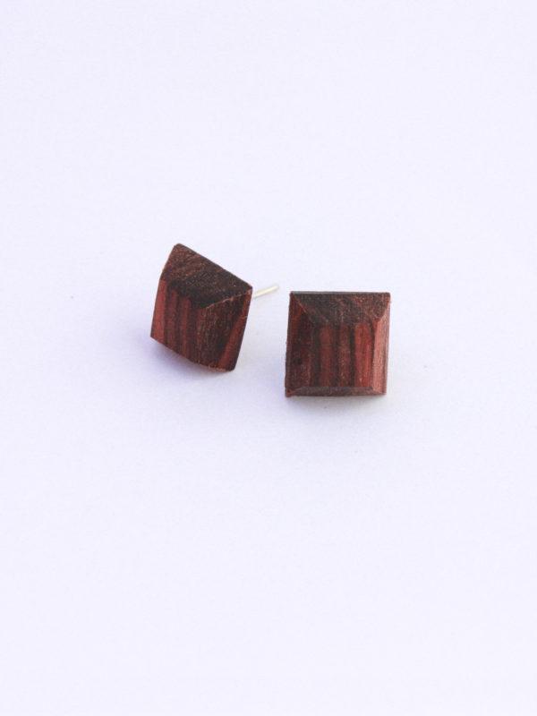 clous d'oreilles bois de violette