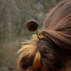 Pic à cheveux wengé
