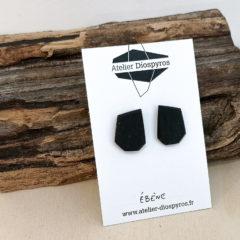 Boucles d'oreilles pour homme en ébène